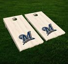 Milwaukee Brewers Cornhole Decal Vinyl MLB Baseball Car Wall Set of 2 GL54 on Ebay