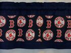 "Boston Red Sox MLB Baseball Blue Custom Valance Panels Choose:40"",52"", 80"" x13""L on Ebay"