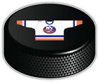 New York Islanders White Shirt NHL Hockey Puck Bumper Sticker- 9'', 12'' or 14'' $13.99 USD on eBay