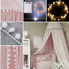 Kids Baby Bed Canopy Bedcover Mosquito Net Curtain Bedding Dome Tent Cotton