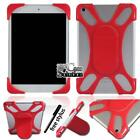 Universal Shockproof Silicone Stand Cover Case For Various Tablet + Stylus