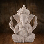 3BBD 2359 Buddha Elephant Statue Sculptures Sandstone Figurine Garden Home Decor