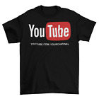 customized youtube channel url t shirt unisex adult funny sizes personalized new