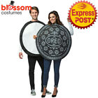 CA789 Oreo Cookie Couples Adult Costume Mens Womens Food Biscuit Halloween Funny