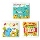 Bathroom Waterproof Books Baby Water Bath Toys with BB Device Toddler Kids Toys