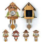 Antique Wooden Cuckoo Wall Clock Bird Time Bell Swing Alarm Watch Batteries Home