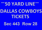 2 Dallas Cowboys vs Redskins Tickets 11/22  * Midfield * on eBay