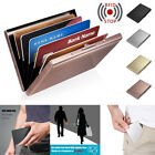 Credit Card ID Holder Slim Money Travel Wallet Box Case for Men Stainless Steel image
