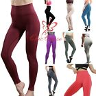 UK Women's Seamless Leggings Gym Sportswear Yoga Pants Running Training Fitness