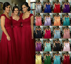 Stock Long Chiffon Lace Evening Formal Party Ball Gown Prom Bridesmaid Dresses