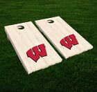 Home Decor Brown Leather Sofa Wisconsin Badgers Cornhole Decal Vinyl NCAA College Car Wall Set Of 2 GL132 Home Decorating Magazines Australia