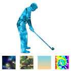 Golfer Address Golf - Vinyl Decal Sticker - Multiple Pattern