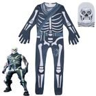 Cosplay Game Skull Trooper Costume Halloween Zentai Jumpsuit Bodysuit Catsuit