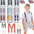 Внешний вид - Boys Girls Kids Child Baby Children Toddler Clip on Elastic Suspenders US SELLER