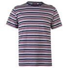 Mens Pierre Cardin Crew Top Multi Colour Striped Tee Sizes from S to XXL