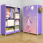 Portable Folding Closet Storage Organizer Clothes Wardrobe Shoe Rack Shelves
