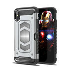 For iPhone X 7 8 Plus Rugged Hybrid Magnetic Shockproof Card Holder Case Cover