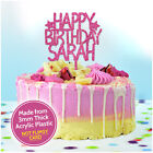 CUSTOM Happy Birthday Cake Topper PERSONALISED with ANY NAME Cake Decorations