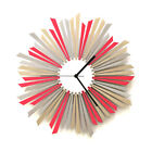 The Star - stylish wooden wall clock in shades of pink and silver by ardeola