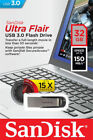 Sandisk Ultra Flair 16GB 32GB 64GB 128GB USB 3.0 Flash Memory Pen Drive Stick Us