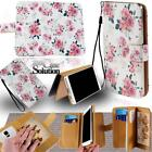 For Samsung Galaxy Phones  - Leather Wallet Card Stand Flip Case Cover + Strap