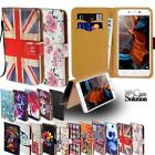 For Lenovo K Series SmartPhones - Leather Wallet Card Stand Flip Case Cover