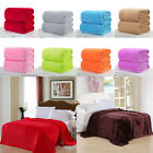NEW Super Soft Solid Warm Micro Plush Fleece Blanket Throw Rug Sofa Bedding GW image