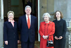 US President Bill Clinton, his wife Hillary (right) and his daughter Chelsea ...