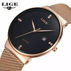 LIGE Men  Watches | Stainless Steel Strap | Ultra Thin Case | Fashion Casual