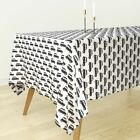Tablecloth Boy Retro Cab Car Black And White Oldtimer London Cotton Sateen