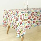 Tablecloth London Travel Uk Bus Retro Great Britain Kids Cotton Sateen
