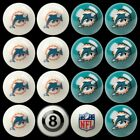 NFL Billiard Ball Set - The Ultimate Miami Dolphins Fan Pool Table Ball Set $256.49 USD on eBay