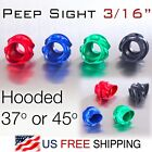 Peep Sight w. Sun shade Hood for Compound Bow 3/16 inch Blue Red Green Balck CNC
