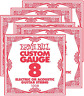 More images of Ernie Ball Custom Gauge Electric or Acoustic Plain string - pack of 6 - 0.08