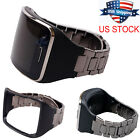 Black Stainless Steel Band Wriststrap Holder for Samsung Galaxy Gear S SM-R750 image