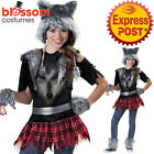 CK1322 Wear Wolf Werewolf Girl Wolf Halloween Tween Scary Fancy Dress Up Costume