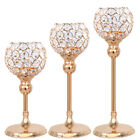 Crystal Hollow Wedding Party Candle Holder Lamp Tea Light Stand Candelabra Decor