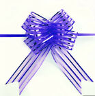 10/20Pcs DIY Wide Sheer Pull Bows Organza For Gift Packaging Wedding Party Decor