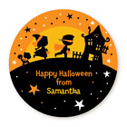 Trick or Treat Kids - Halloween Personalized Round Stickers - 8 sizes available