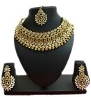 Bollywood Ethnic Gold Tone Indian Fashion Bridal Jewelry Necklace Earring Set