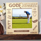 Golf Lovers Personalized Wooden Picture Frame