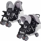 Baby Toddler Buggy Pram Travel Tandem Stroller Double System Twin Seat Pushchair