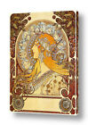 Zodiac by Alphonse Mucha | Ready to hang canvas | Wall art painting picture