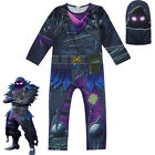 Halloween Boys Fortnite The Reaper RAVEN Cosplay Costume Jumpsuit Fancy Dress US