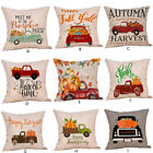Fall Halloween Pillow Cases Linen Sofa Pumpkin Ghosts Cushion Cover Home Decor L