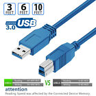 SuperSpeed 3FT 6FT 10FT 15FT USB 3.0/2.0 Printer Scanner Cable Cord for HP Canon