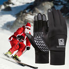 Unisex Cycling Winter Keep Warm Gloves Waterproof Full Finger Glove Black