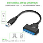 "USB 3.0 To 22 Pin SATA Adapter Cable For 2.5"" External HDD SSD Hard Drive Disk"