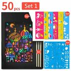 Colorful Scratch Art Paper Magic Drawing Colouring Cards Memo Pad For Kids