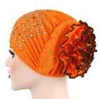 Women Muslim Turban Hat Chemo Cap Lace Head Wrap Scarf Cover Hijab Gift US